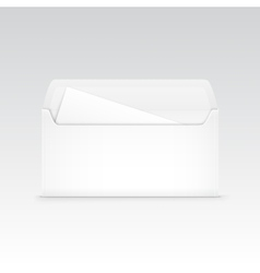 White Blank Envelope Isolated vector image vector image