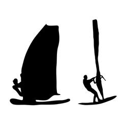 Windsurfer silhouette vector