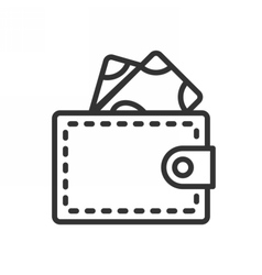 Wallet outline icon vector image