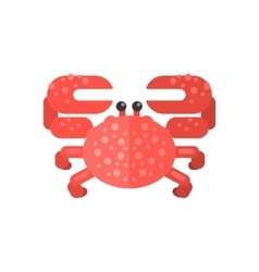 Pink crab primitive style childish sticker vector