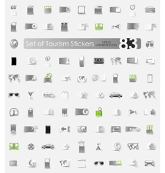Set of tourism stickers vector image