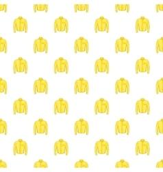 Yellow men shirt pattern cartoon style vector image
