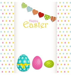 Easter egg background with panel and message vector