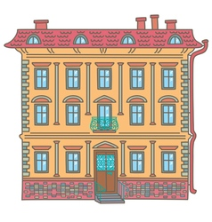 Ancient house vector