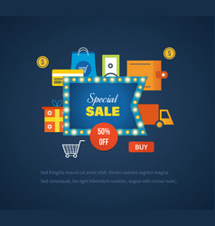 Special sales offers promotions discounts vector