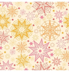 Warm stars seamless pattern background vector