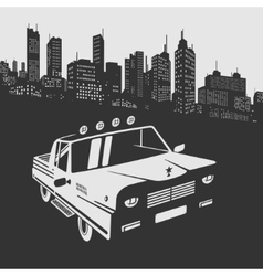 Car in the City vector image