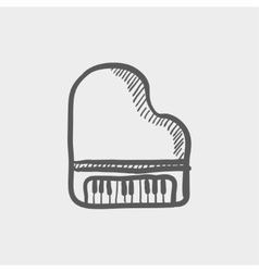 Piano sketch icon vector