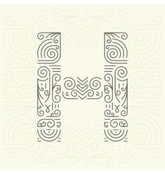 Letter h golden monogram design element vector