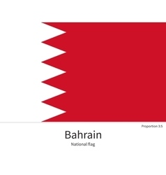 National flag of bahrain with correct proportions vector