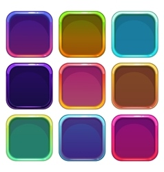 Rounded square app icon frames set vector image