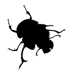 Dor-beetle silhouette vector