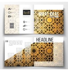 Set of square design brochure template islamic vector