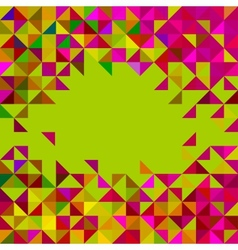 Abstract Geometric Color Frame vector image vector image