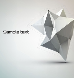 Abstract white geometric shape polygonal vector