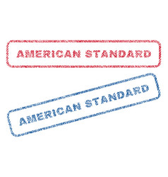 American standard textile stamps vector