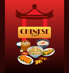 Asian food poster vector