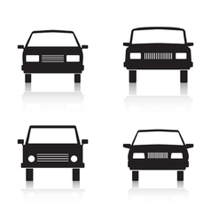 Cars black icons vector image