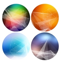 Colorful collection set of trendy geometric vector image vector image