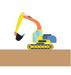 Colorful digger picture vector