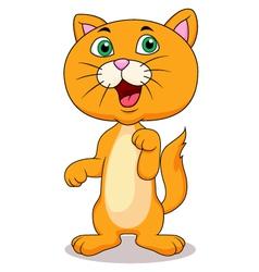 Cute cat cartoon standing vector image