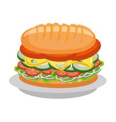 Delicious sandwich food vector