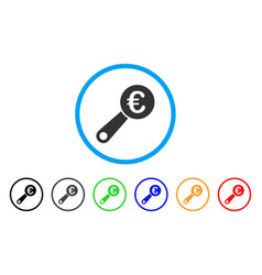 euro audit rounded icon vector image vector image