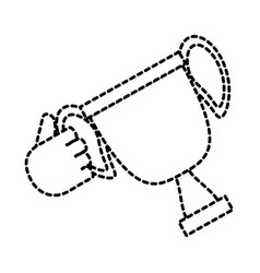 hand holding a trophy cup icon vector image