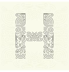 Letter H Golden Monogram Design element vector image vector image