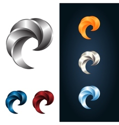 Logo or emblem template metal claw icon vector