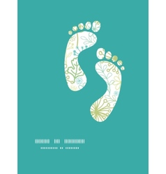 Mysterious green garden footprints vector
