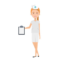 nurse professional woman of health with order vector image vector image