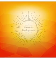 Orange polygon abstrac vector image vector image