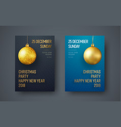 poster template for a christmas party vector image vector image