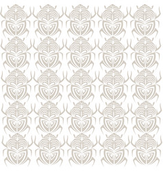 scarab bug insect tribal tattoo semaless pattern vector image