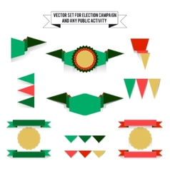 Set of elements on white background flags vector image