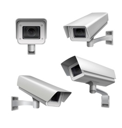 Surveillance camera set vector image