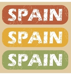 Vintage Spain stamp set vector image