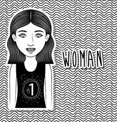 Woman design vector image