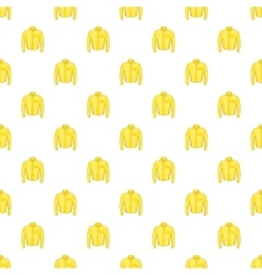 Yellow men shirt pattern cartoon style vector image vector image