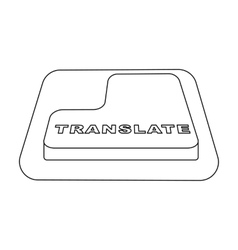 Translate button icon in outline style isolated on vector image