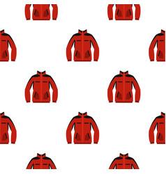 Red sweatshirt with a zipper pattern seamless vector