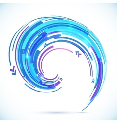 Abstract blue techno spiral background vector