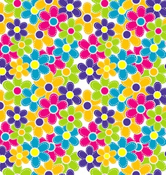 Sewing flowers seamless vector