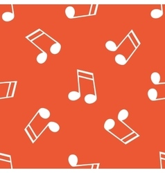 Orange 16th note pattern vector