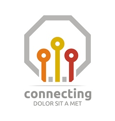 Logo abstract connecting design icon element vector