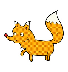 Comic cartoon fox cub vector