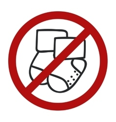 Stop sign doodle socks icon for web design vector