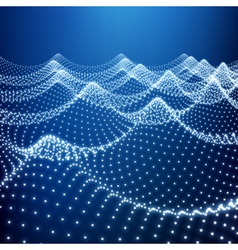 Water surface wavy grid lattice structure vector