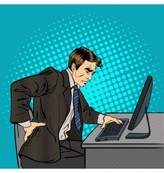 Businessman Suffering from Backache at Work vector image